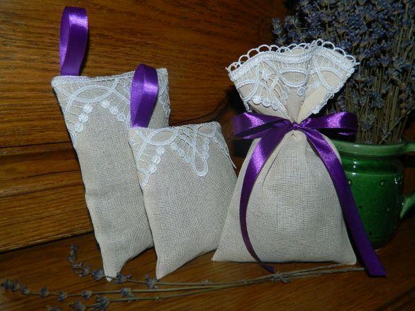 set saculete cu lavanda uscata